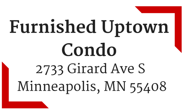 Furnished Uptown Condo