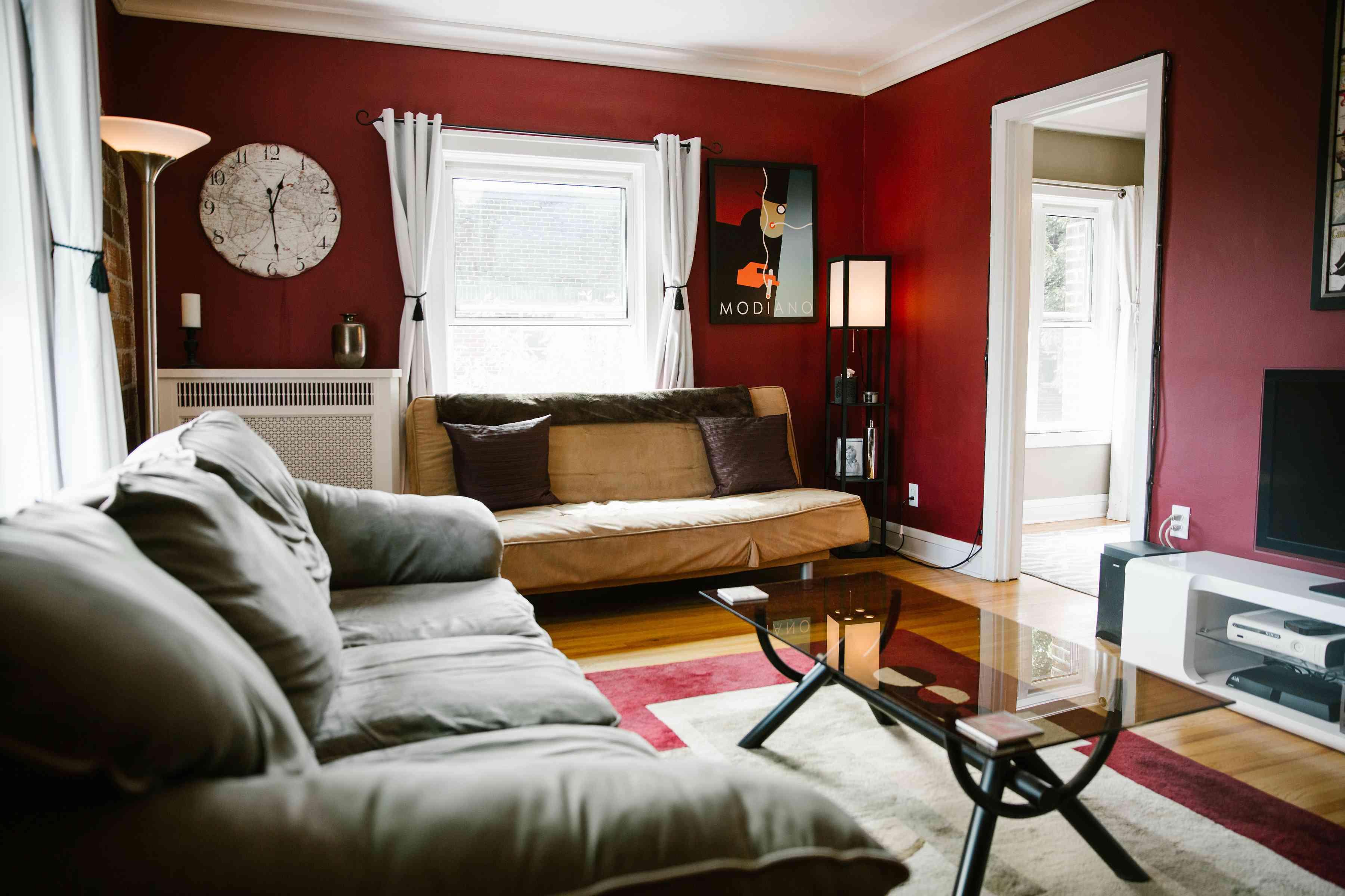 Living Room in Rental Minneapolis