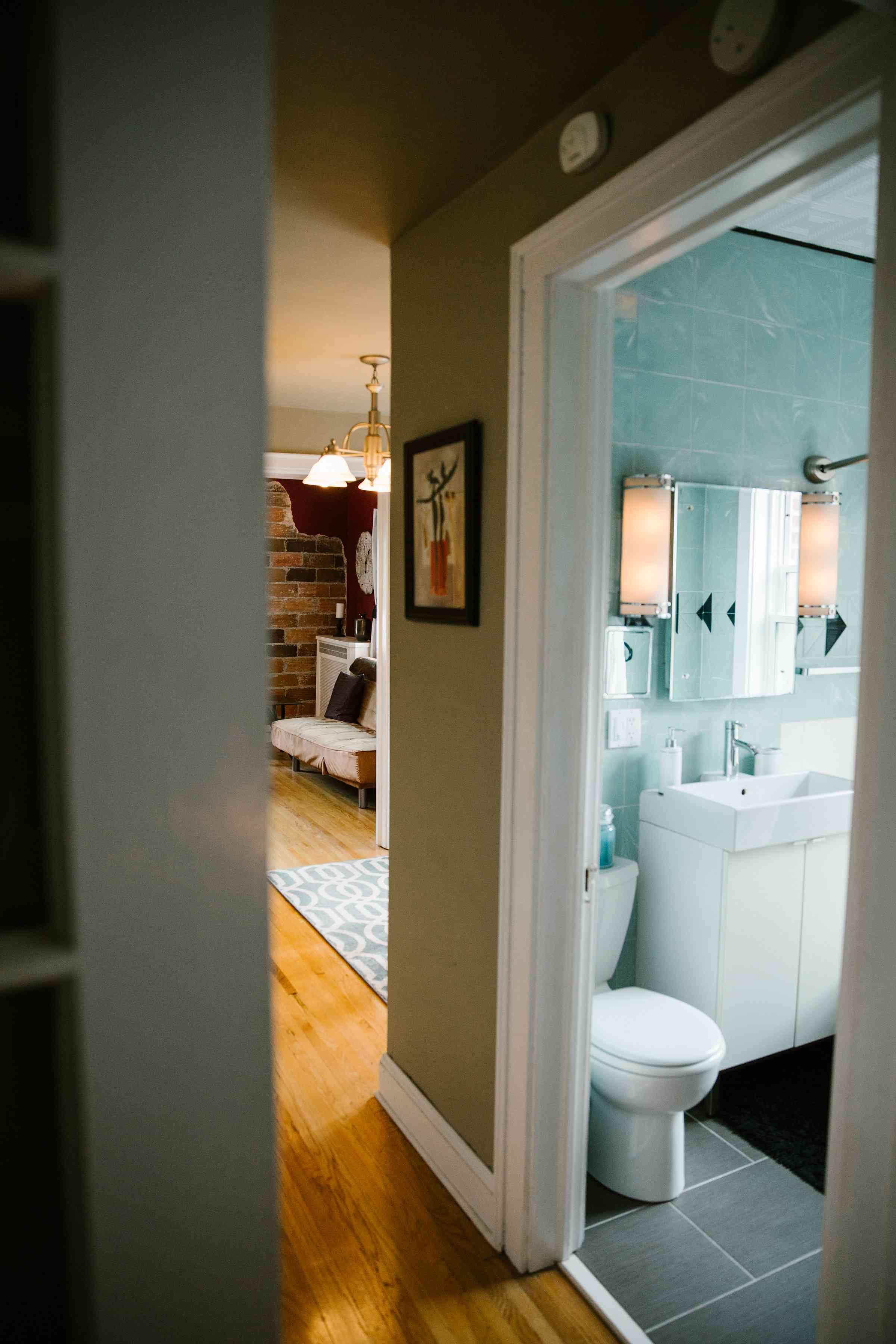 condo rental hallway