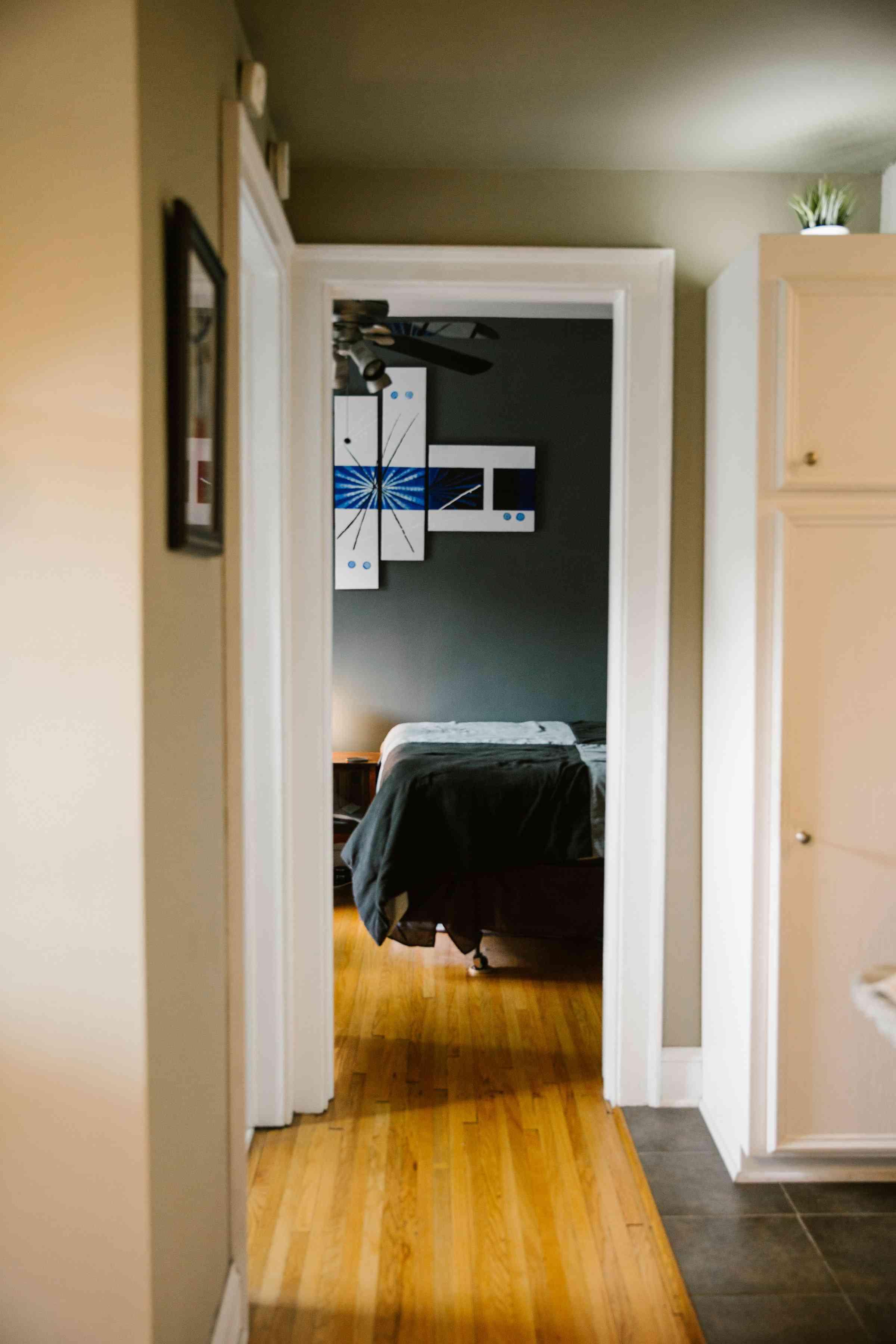 hallway in condo rental